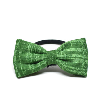 Green Meadows Bow Hair Tie