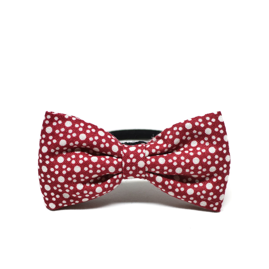 Strawberry Polka Bow Hair Tie