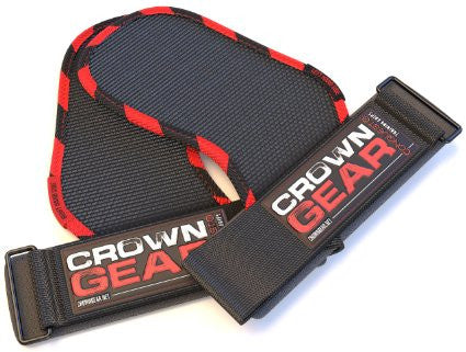 Crown Gear CONQUEST Grips Pads with Built-in Wrist Support Wraps and Industrial Quality Velcro
