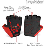 Ignite - Men's Power Weightlifting Gloves with Stretch Mesh and Adjustable Wrist Closure and Protective Palm
