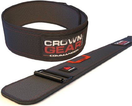 Crown Gear COMMANDER 4-Inch Weight Lifting Belt for Back Support