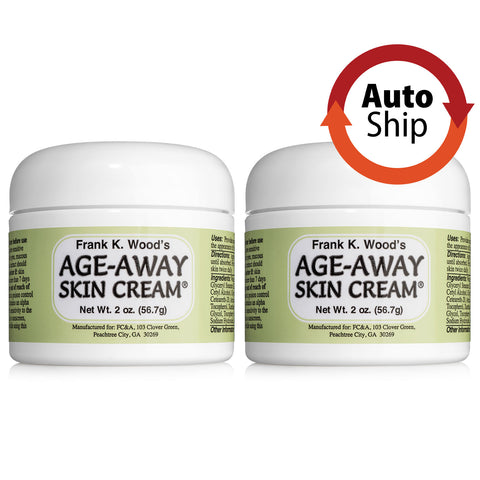Autoship Subscription —  Frank K. Wood's Age-Away Skin Cream<sup>®</sup> - 2 Jar Pack