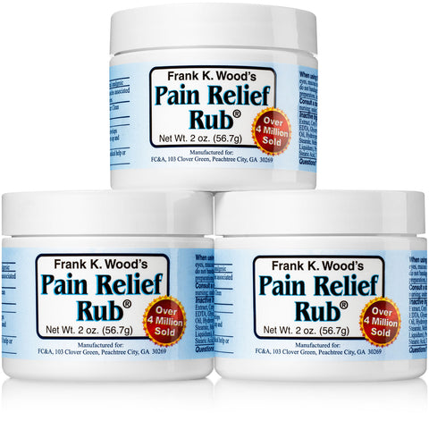 Frank K. Wood's Pain Relief Rub® - 3 Pack