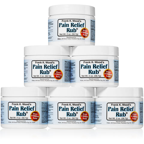 Frank K. Wood's Pain Relief Rub<sup>®</sup> - 6 Pack