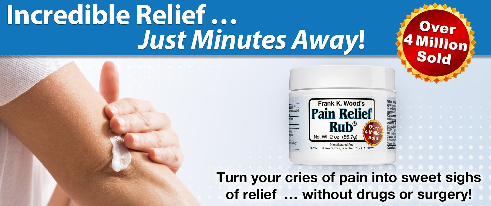 Frank K. Wood's Pain Relief Rub®