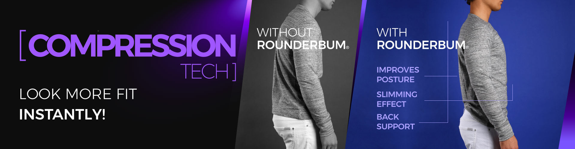 rounderbum compression tech collection underwear for men