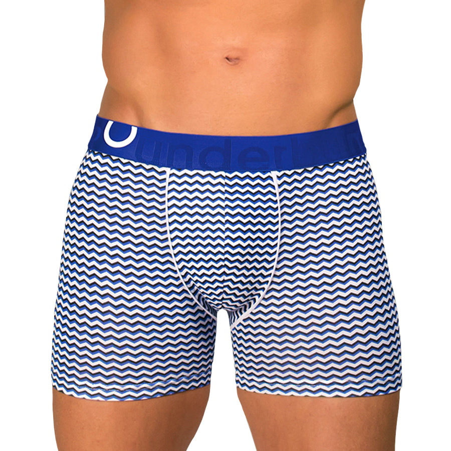 Rounderbum Padded Boxer Brief Geometric - Men's Shapewear - Boxer Brief - Rounderbum Shark Tank Men Shapewear and Underwear