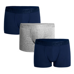 Rounderbum New Basic Padded Boxer Brief 3 Pack VALUE PACK: 3 undies & 1 set of pads