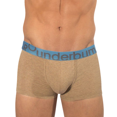 Rounderbum Heather Padded Boxer Trunk - Men's Shapewear - Boxer Trunk - Rounderbum Shark Tank Men Shapewear and Underwear