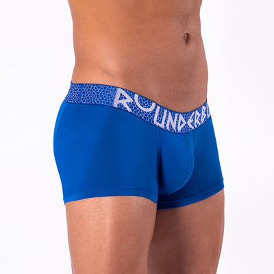 Rounderbum MYKONOS BLUE Lift Trunk - Boxer Trunk - Rounderbum Shark Tank Men Shapewear and Underwear