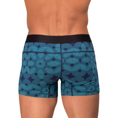 Rounderbum Package Lift Geometric 2 Pack - Men's Shapewear - Boxer Brief - Rounderbum Shark Tank Men Shapewear and Underwear