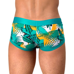 Rounderbum Havana Summer Mini Trunk - Men's Shapewear - Mini Trunk - Rounderbum Shark Tank Men Shapewear and Underwear