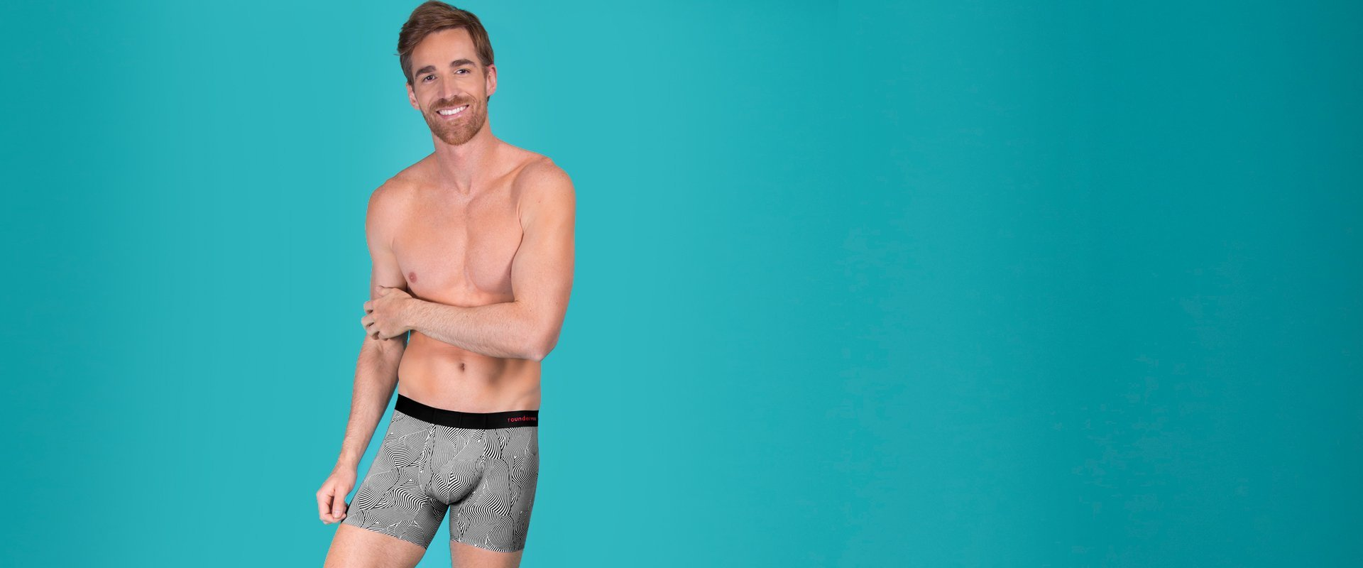 Rounderwear Boxer Brief Fashion - Boxer Brief - Rounderbum Shark Tank Men Shapewear and Underwear