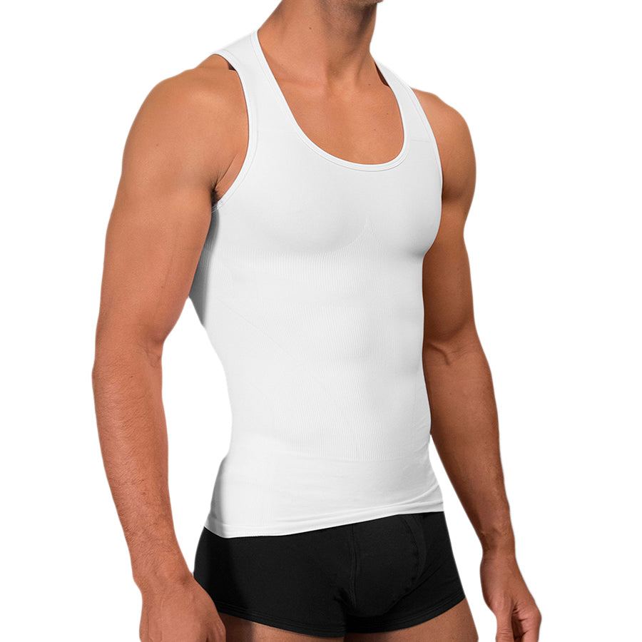 Rounderbum Seamless Compression Tank Top - Men's Shapewear