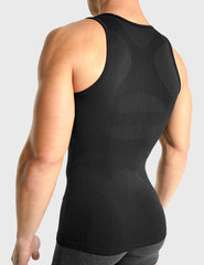 Rounderbum Seamless Compression Tank Top - Men's Shapewear - Shirt - Rounderbum Shark Tank Men Shapewear and Underwear