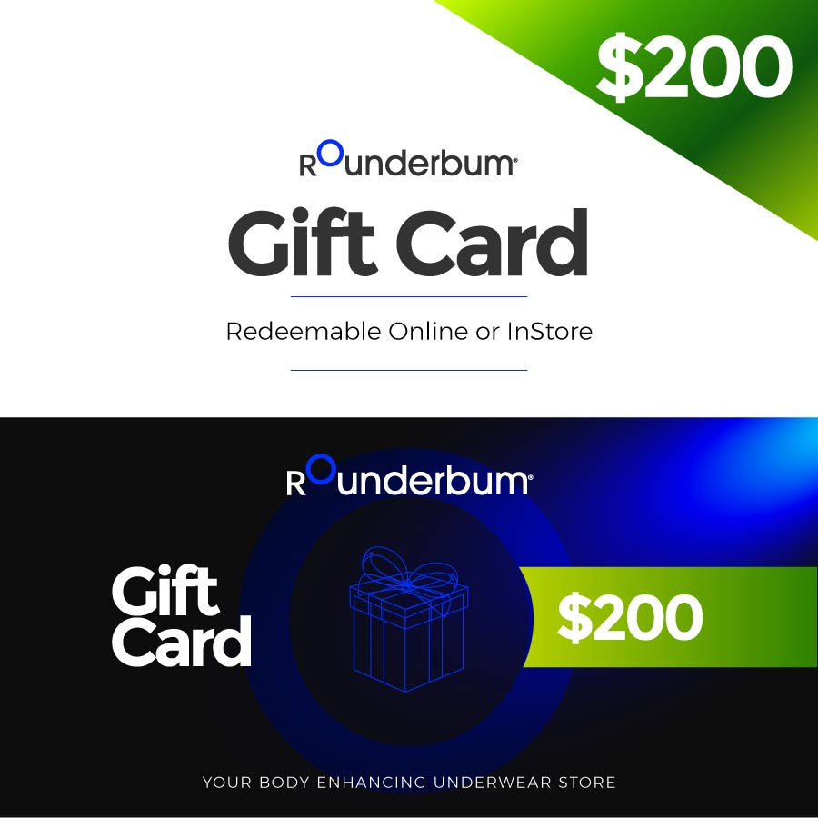Gift Card $200 USD -  - Rounderbum Shark Tank Men Shapewear and Underwear
