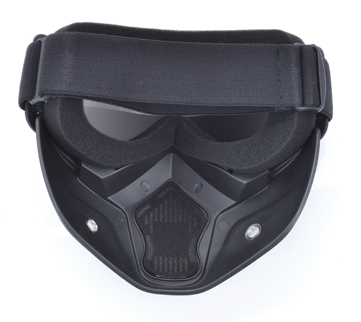[HOT SALE] Pilot Full Face Mask with YELLOW goggles protection *Shark Style*