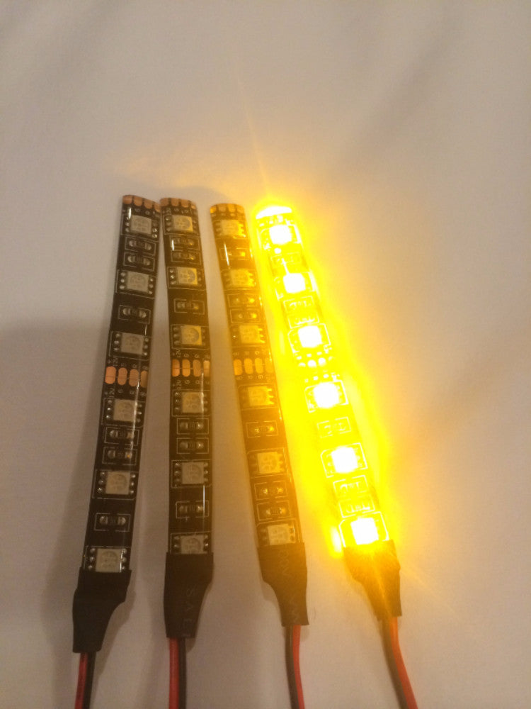 Amber/Orange Super Bright LED Strip 10cm - Knight Industries