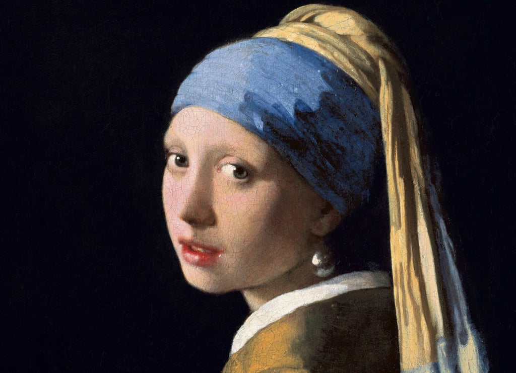 Girl with a Pearl Earring Painting by Johannes Vermeer Lapis Lazuli