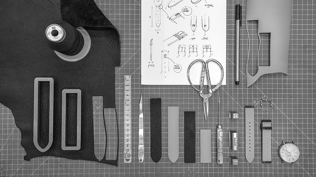 MYKU Leather Strap Assembly process