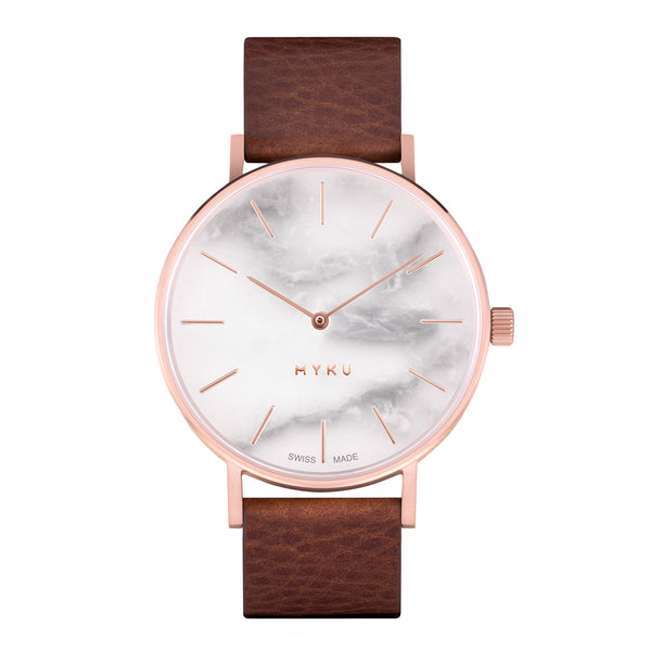 MYKU White Marble Rose Gold