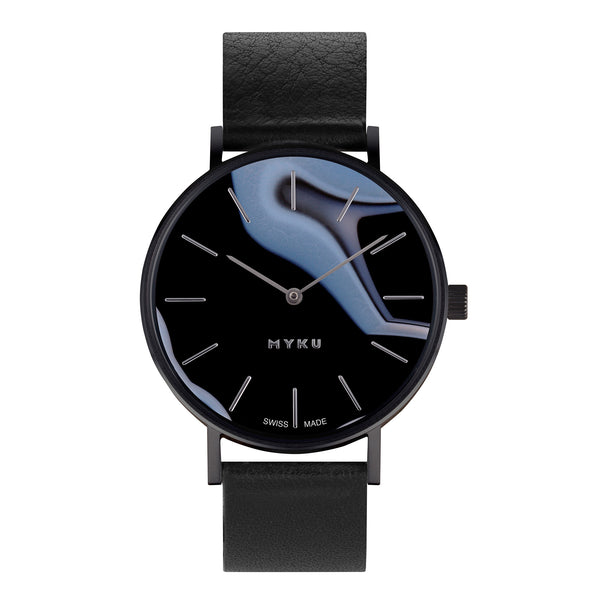 MYKU Black Onyx Space Black Watch
