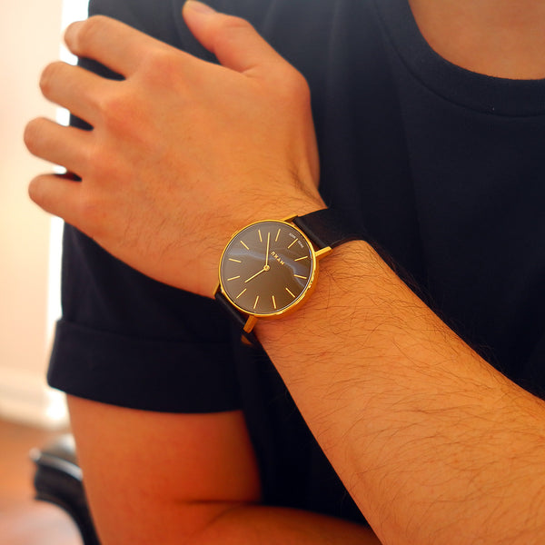 MYKU Black Onyx Gold Watch - Jason Wong