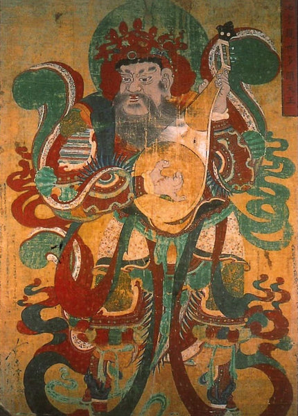 Dhratarastra, Guardian King of the East, a painting on hemp cloth