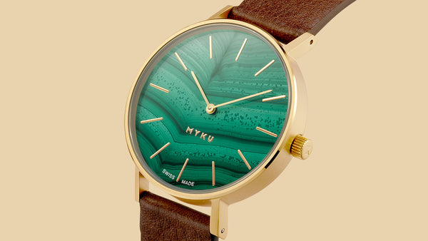 MYKU Malachite watch