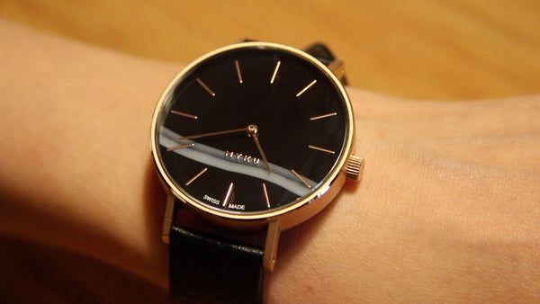 Maggie Lim MYKU Black Onyx Rose Gold watch