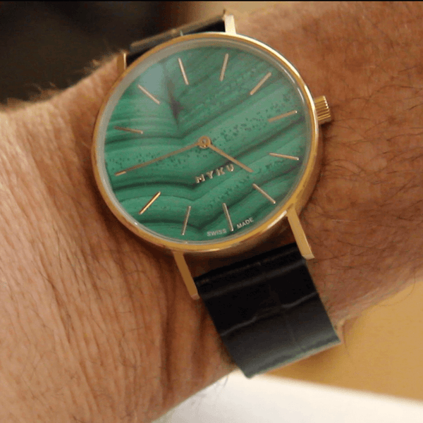 MYKU Malachite Watch Guy Bedarida