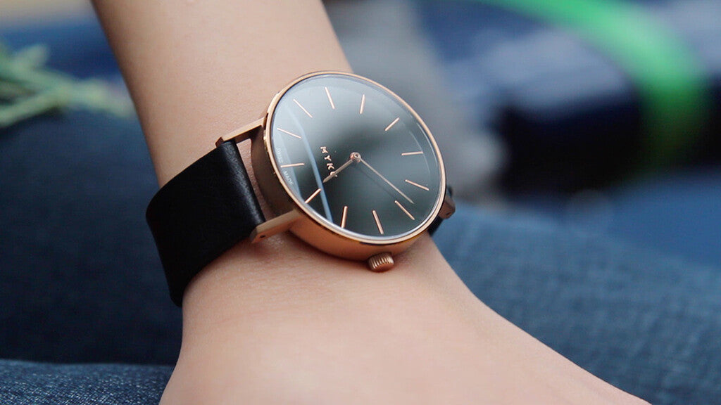 MYKU Black Onyx Rose Gold Watch Carrie Lim