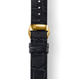 MYKU Croco Grain Premium Leather Strap with Butterfly Clasp Gold Top - slider