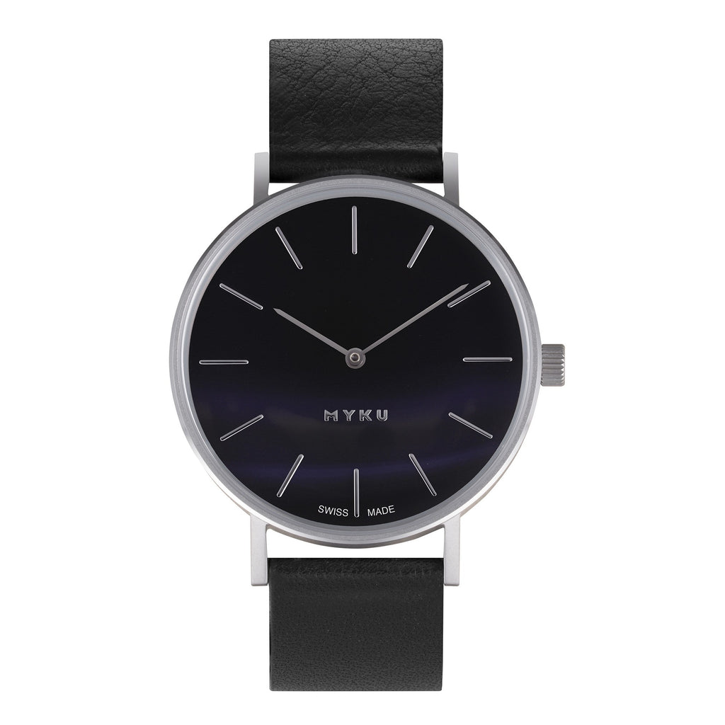 MYKU Black Onyx Stainless Steel watch 036