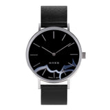 MYKU Black Onyx Stainless Steel 38mm Watch