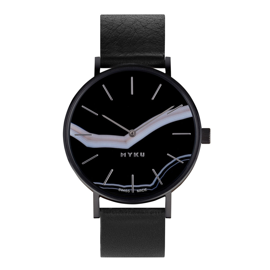MYKU Watch - Black Onyx Space Black - BO175