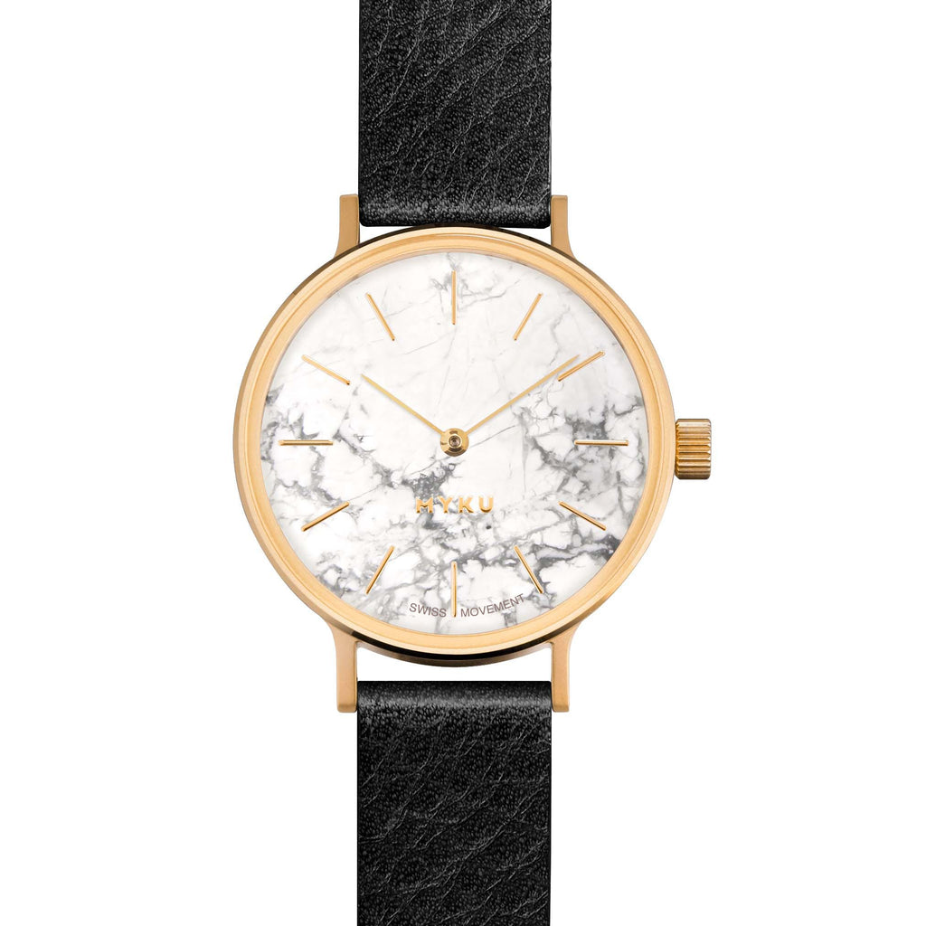 MYKU Howlite Gold 32mm Watch