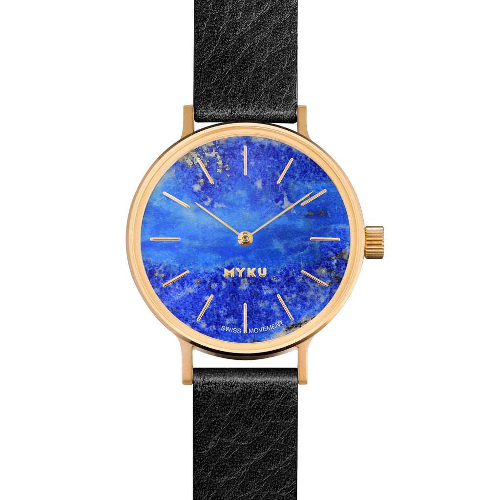 MYKU Lapis Lazuli Gold 32mm Watch