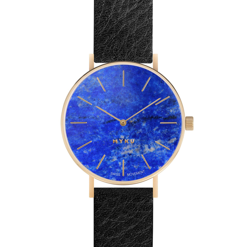 MYKU Lapis Lazuli Gold 38mm Watch