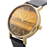 MYKU Tiger Eye Gold 38mm Watch