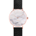 MYKU White Marble Rose Gold 38mm Watch