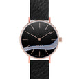 MYKU Black Onyx Rose Gold 38mm Watch