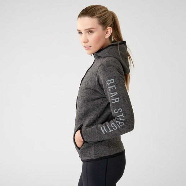 Origins - Pro Knit Zip Hoodie - Marl Black (Womens)