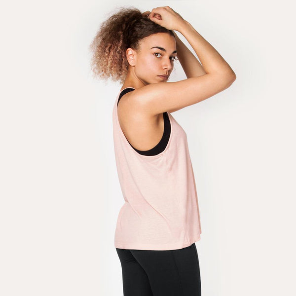 Icon | Women's High Neck Training Tank | Peach