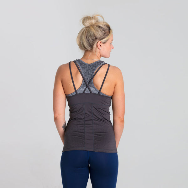 Icon Breathe | Women's Strap Training Tank | Charcoal