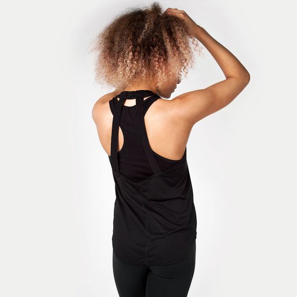 Icon | Women's Open Back Training Tank | Black