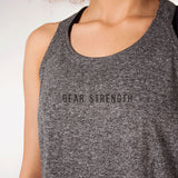 Icon | Women's Open Back Training Tank | Charcoal