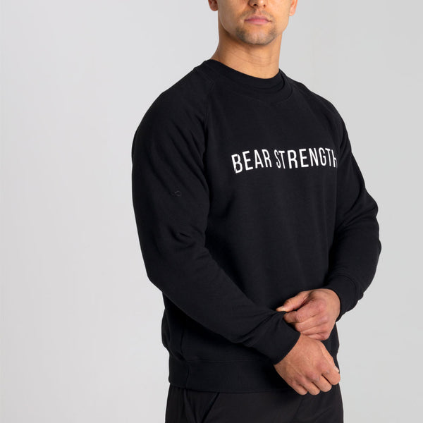 Icon | Men's Long Sleeve Training Sweatshirt | Black