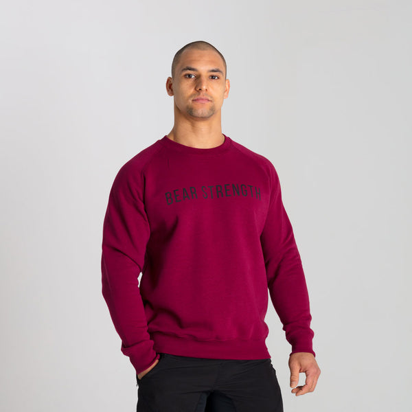 Icon | Men's Long Sleeve Training Sweatshirt | Burgundy