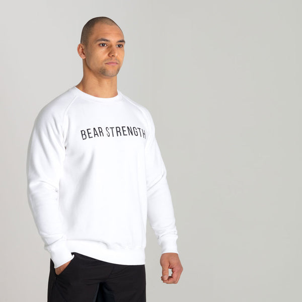 Icon | Men's Long Sleeve Training Sweatshirt | White